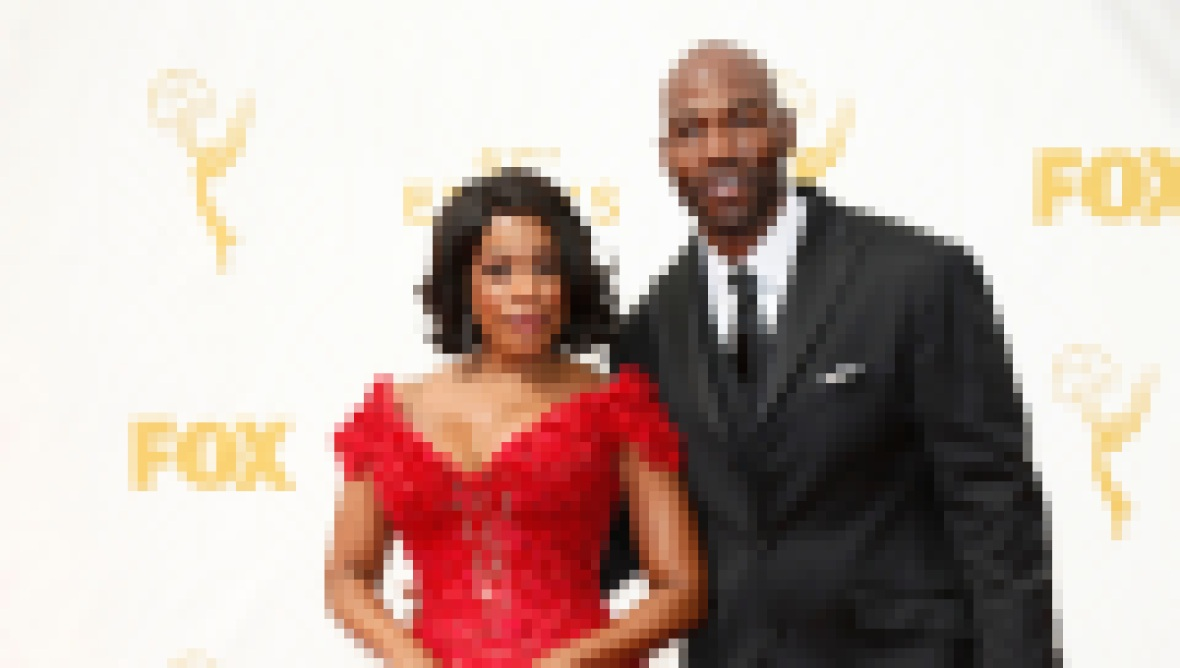 Niecy Nash Wearing a Red Gown With Her Husband Jay Tucker