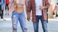 Nikki Bella and Boyfriend Artem Chigvintsev film their new reality tv show in Studio City