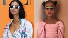 A Split Image of Kristen Noel Crawley and North West, Kristen Noel Crawley Gushes Over North West's Fashion Sense