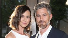 David and Odette Annable Pose Together Outside