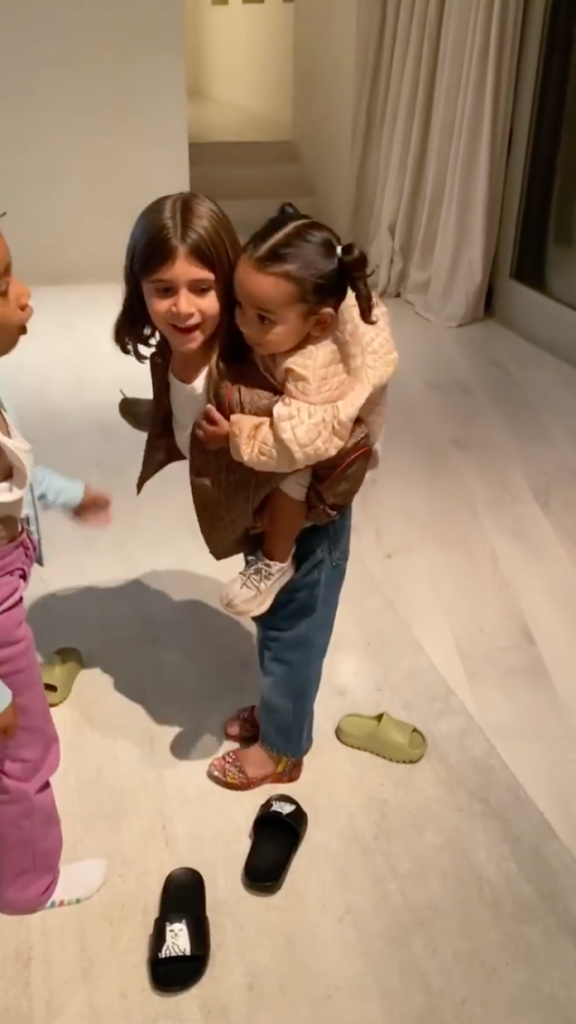 Penelope Disick Gives Chicago West a Piggyback Ride