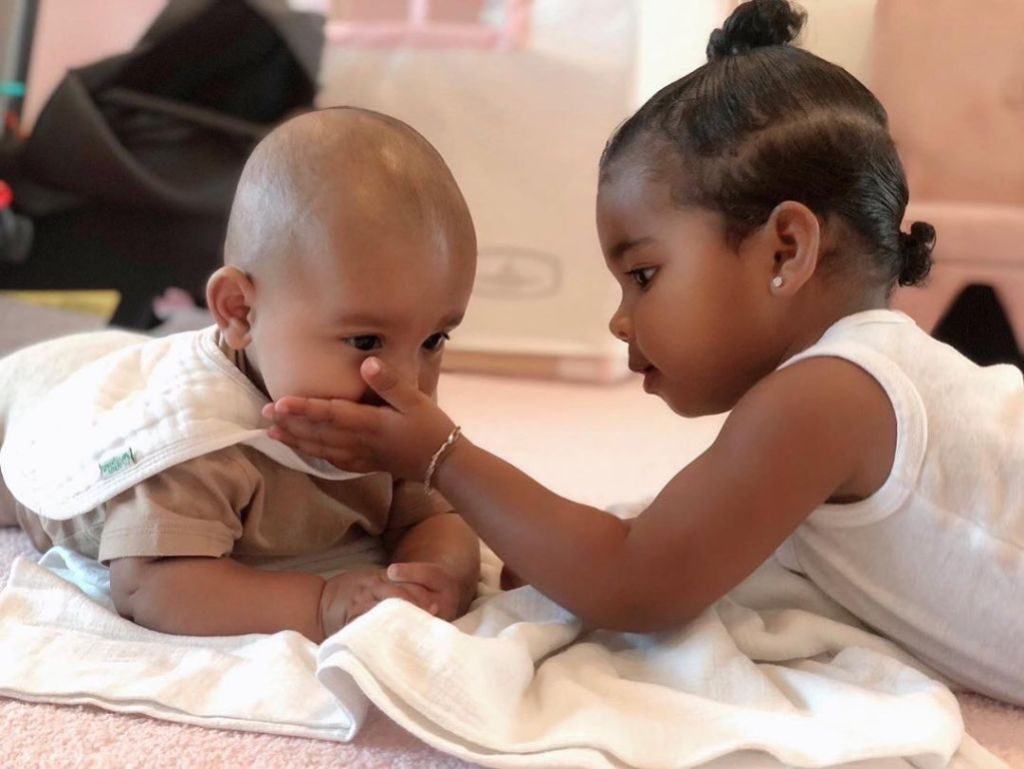 True Thompson Bonding With Her Cousin Psalm West