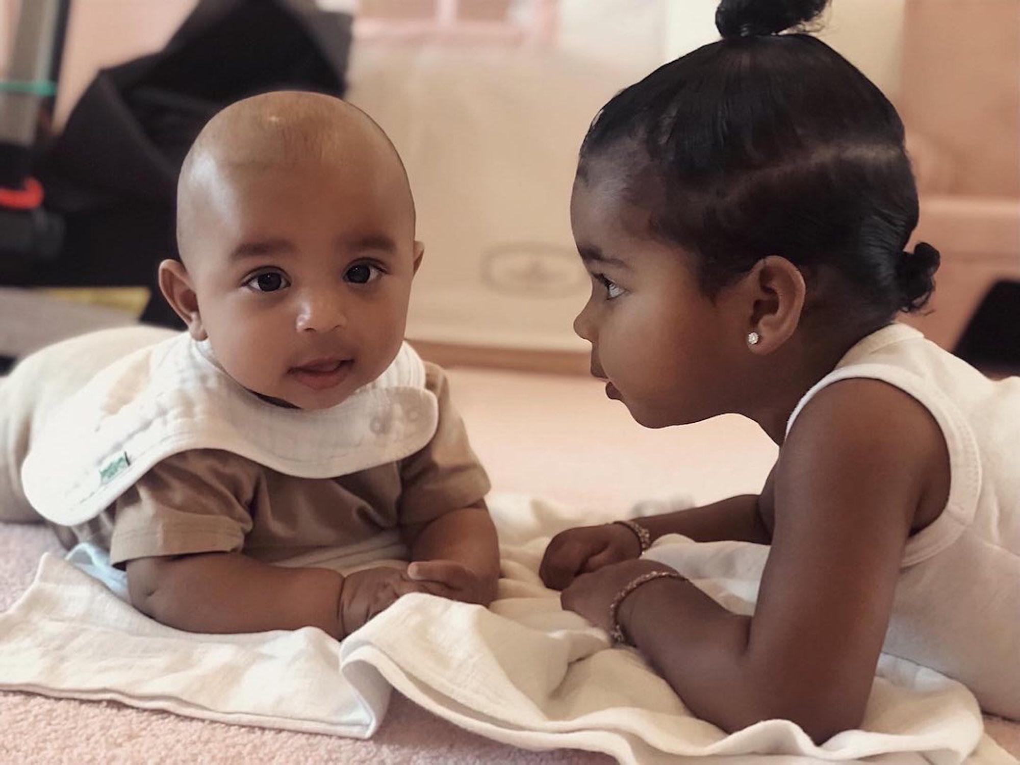 Baby Fever Alert! Kim Kardashian Shares New Photos of Psalm West Bonding With True Thompson: 'OBSESSED'