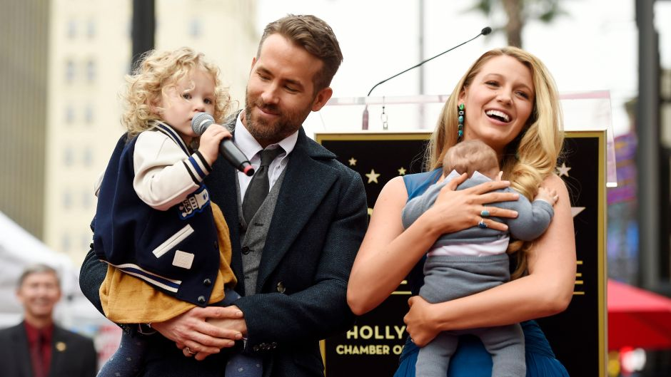Ryan Reynolds, Blake Lively, and Their Two Daughters James and Inez