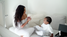 Saint West Pretend Proposes to Mom Kim Kardashian