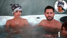 Scott Disick Feels Awkward in Hot Tub With Ex Kourtney & GF Sofia