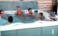 Scott Disick Feels Awkward in Hot Tub With Ex Kourtney & GF Sofia