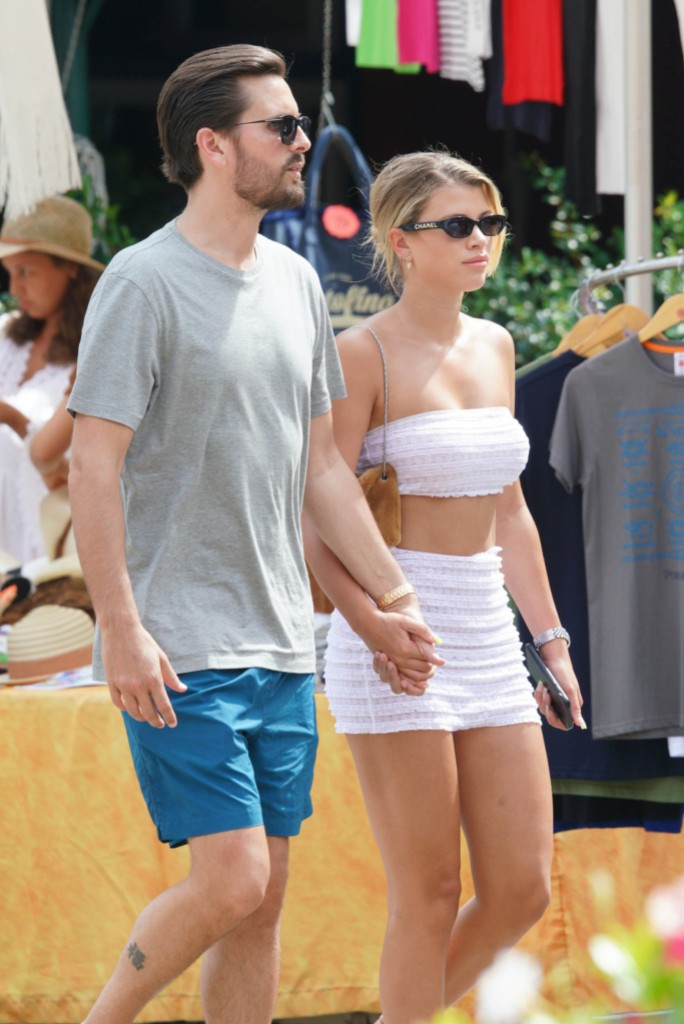 Scott Disick and Sofia Richie Hold Hands in Italy, Scott Leaves a Cheeky Comment on a Topless Photo of Sofia