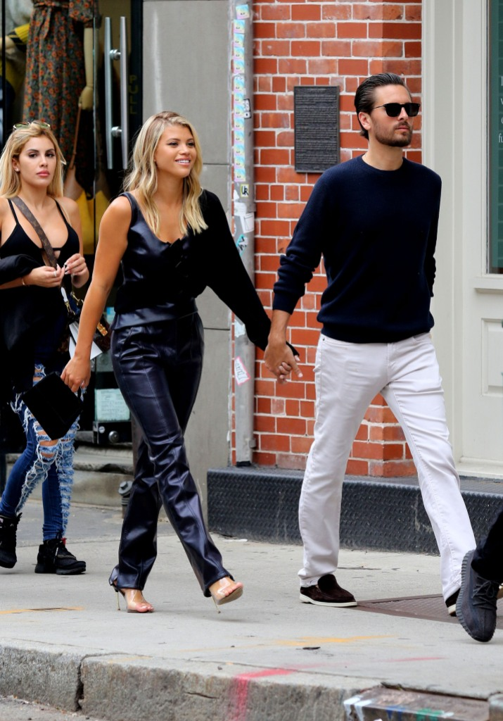Sofia Richie and Scott Disick Hold Hands During Fashion Week in NYC, Scott Leaves a Cheeky Comment on a Topless Photo of Sofia