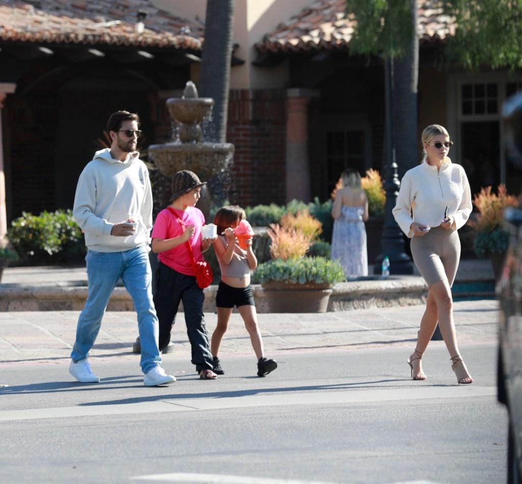 Scott Disick, 35, treats girlfriend Sofia Richie, 19, to ice cream while out with son Mason in LA