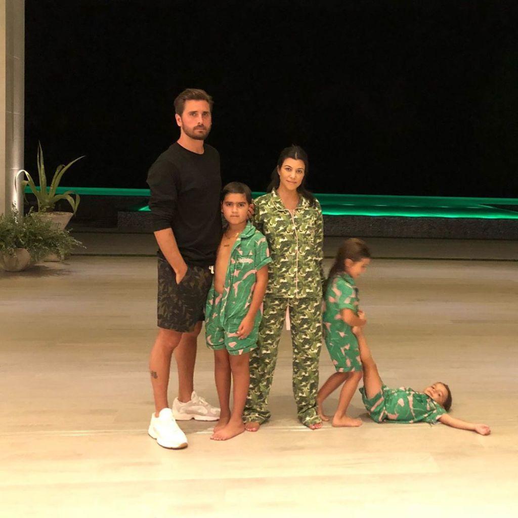 Scott Disick, Kourtney Kardashian and Their Three 3 Children, Kourtney Snuggles in Bed With Son Reign