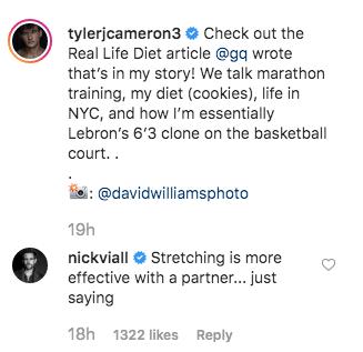 Nick Viall Trolls Tyler Cameron on Instagram