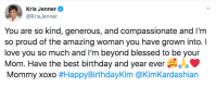 Kris Jenner Wishes Kim Kardashian Happy Birthday
