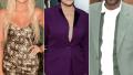 khloe kardashian wears a black and gold dress, kris jenner wears a purple suit, lamar odom wears a sage green suit khloe believes kris jenner set up lamar odom run in in 2015