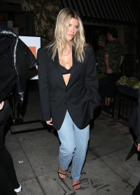 Sofia Richie Steps Out in a Black Blazer and Jeans While Attending a Kate Sommerville Event in West Hollywood