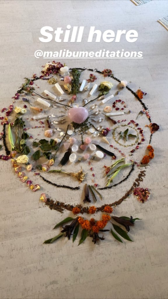 Sofia Richie Instagram Story, Malibu Meditations Journey