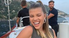 Sofia Richie Wears a Green Dress While Smiling on a Boat in Italy, Model Reveals Her Happy Place on Instagram