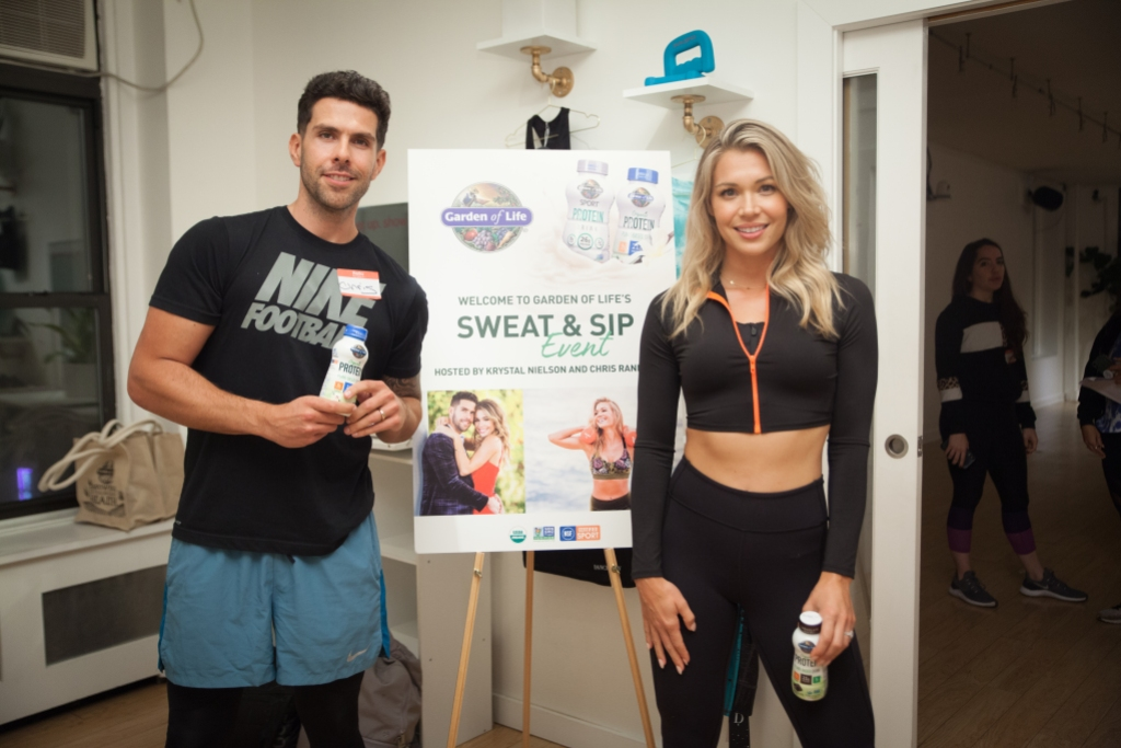 Krystal Nielson and Chris Randone at an Event
