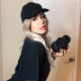 Tana Mongeau dressed as David Dobrik