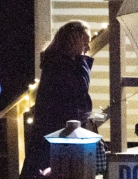 adele arrives at friend jennifer lawrence's rehearsal dinner ahead of her wedding to cooke maroney