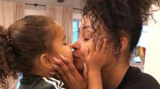 Blac Chyna Kisses Dream Kardashian on the Lips Cutest Moments