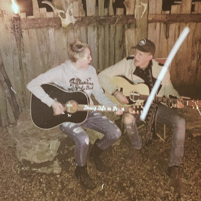 Cody Simpson and Miley Cyrus Playing Guitar Together Kissing Friendship