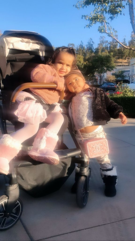 Dream Kardashian and True Thompson Hug on Playdate With Khloe Kardashian Photo 2