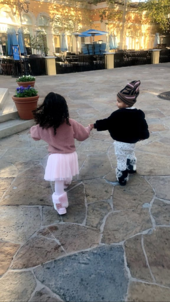 Dream Kardashian and True Thompson Hold Hands on Playdate With Khloe Kardashian