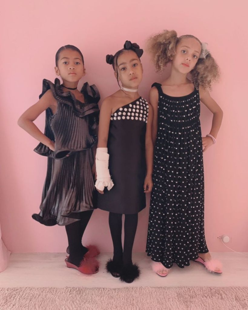 North West Shows Off Her Unique Style (Which Includes a Fake Cast) by Dressing Her BFFs