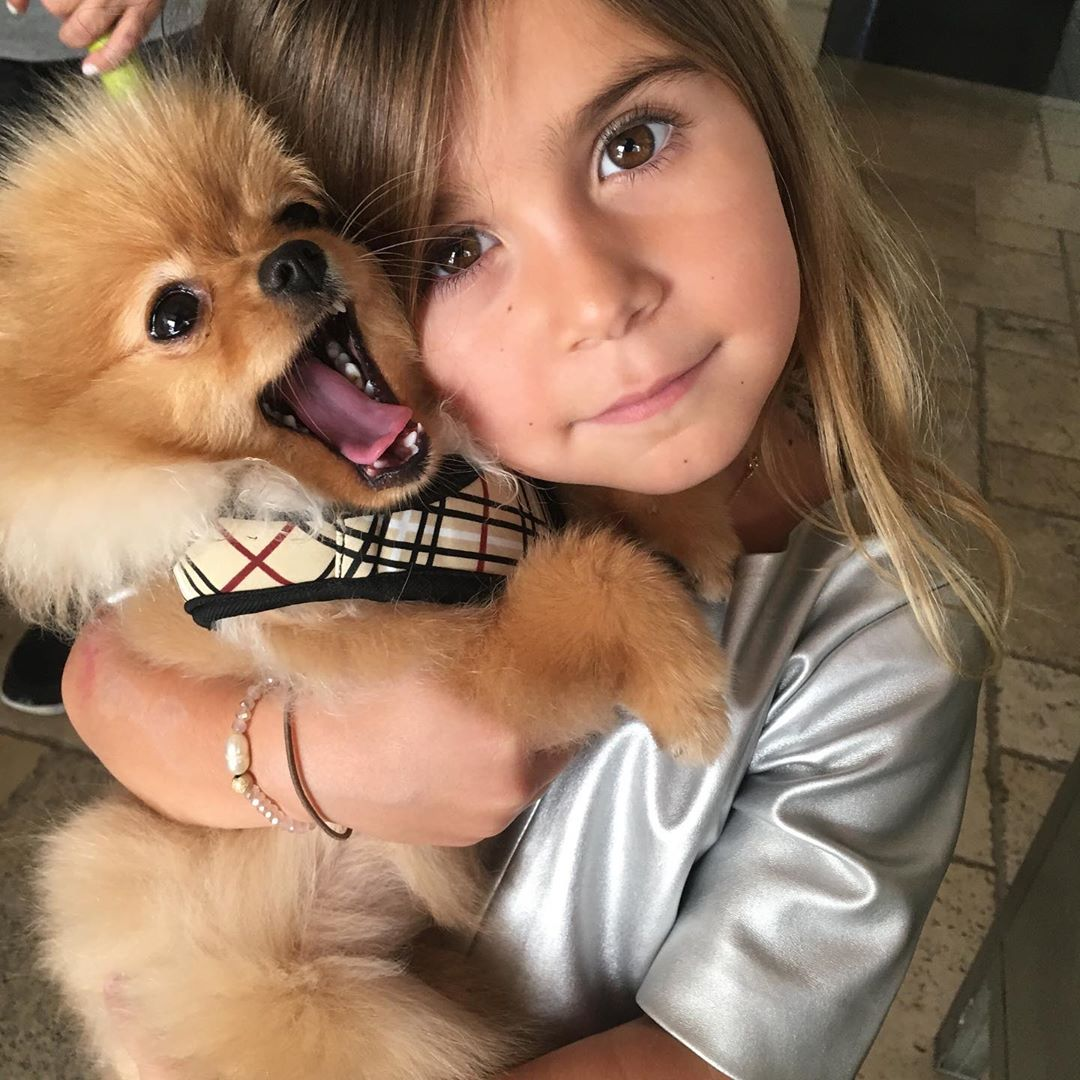 Cuteness Overload! Penelope Disick Cuddles Her Sweet Pup and It's Seriously Adorable