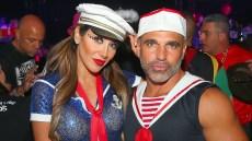 Melissa Gorga, Joe Gorga at a Halloween Party