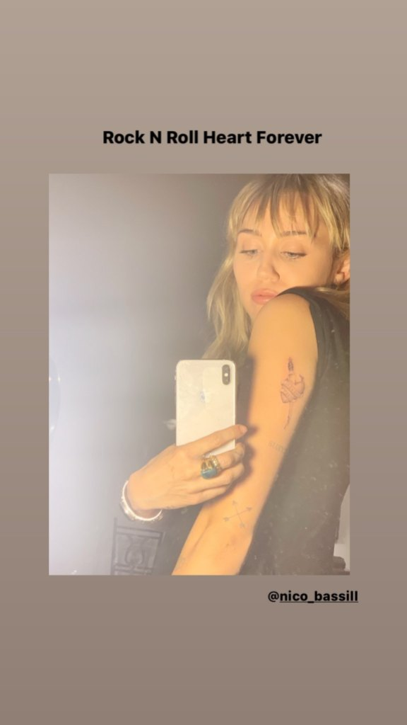Miley Cyrus Shows Off New Tattoo