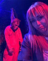 Miley Cyrus at a haunted House