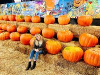 Miley Cyrus at a pumpkin patch