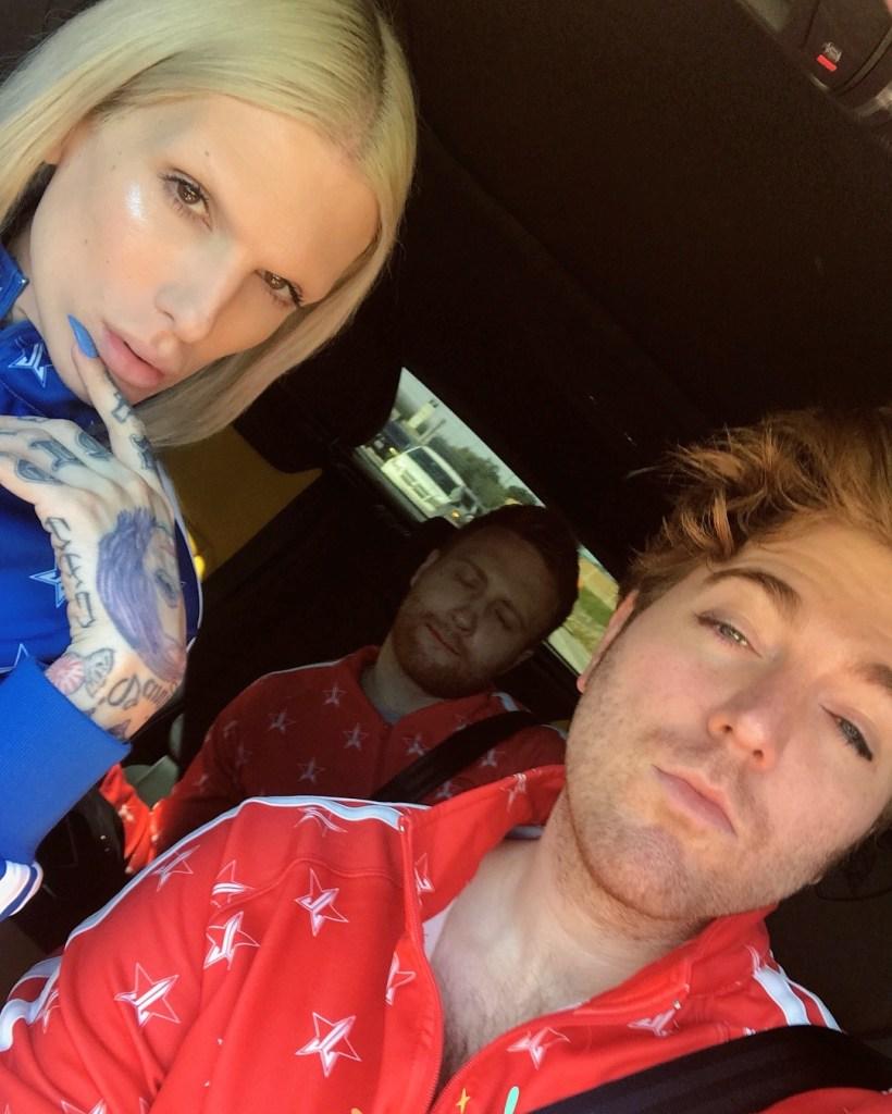 Jeffree Star and Shane Dawson Car Selfie