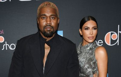Kim Kardashian and Kanye West Look Very in Love While Out With Their Kids