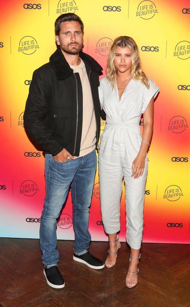 Sofia Richie and Scott Disick Couple Photo Selfie