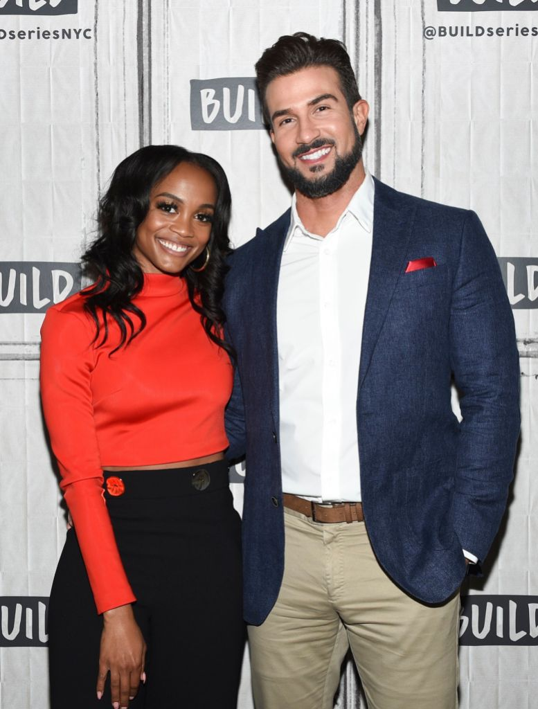 Rachel Lindsay and Bryan Abasolo Posing together at Build Series
