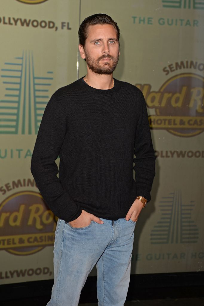 Khloé Kardashian, Scott Disick and Sofia Richie Sizzle in Florida Hard Rock Opening Scott Disick Black Shirt and Jeans