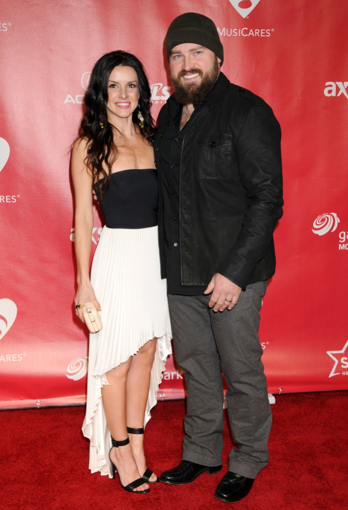 Zac Brown and Shelly Brown on Red Carpet while Married