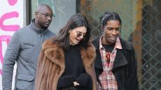 Kendall Jenner and ASAP Rocky out and about, Paris, France - 22 Jan 2017