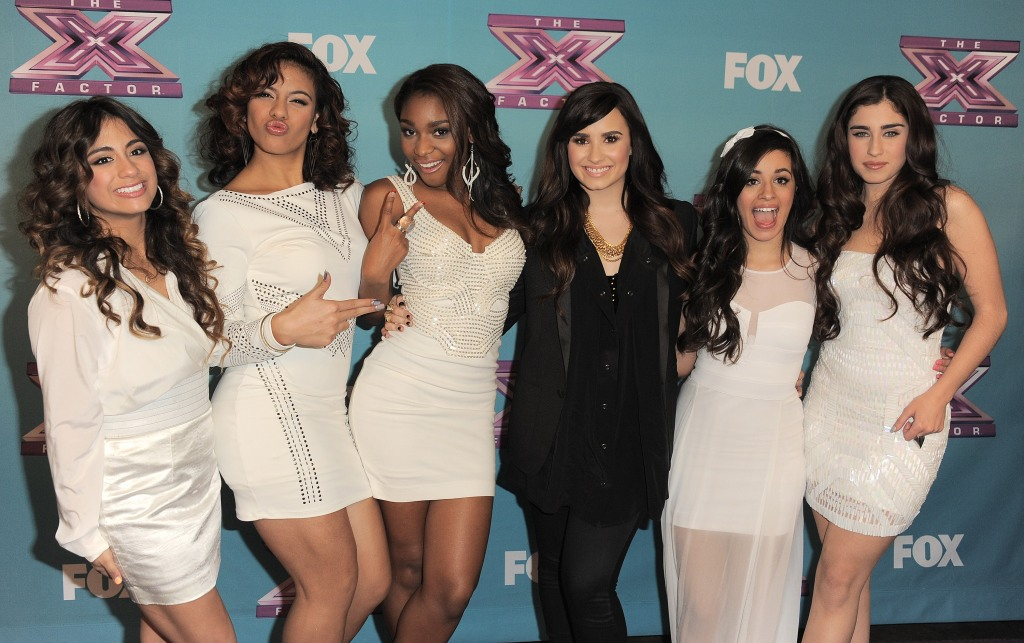 X Factor Fifth Harmony and Demi Lovato