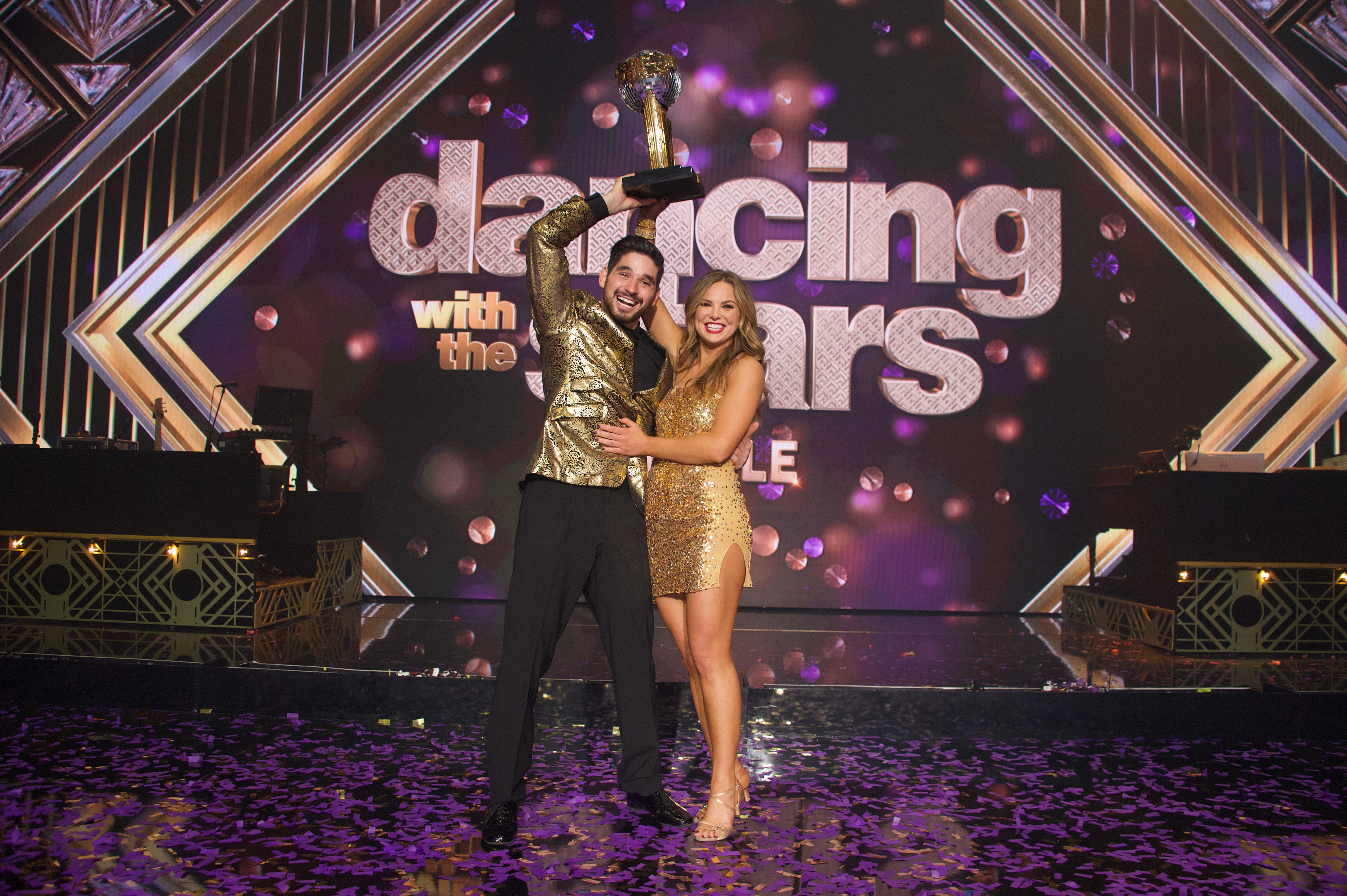 The 'DWTS' Mirror Ball Trophy Is Alan Bersten and Hannah Brown's Baby — His Hilarious Videos Prove It