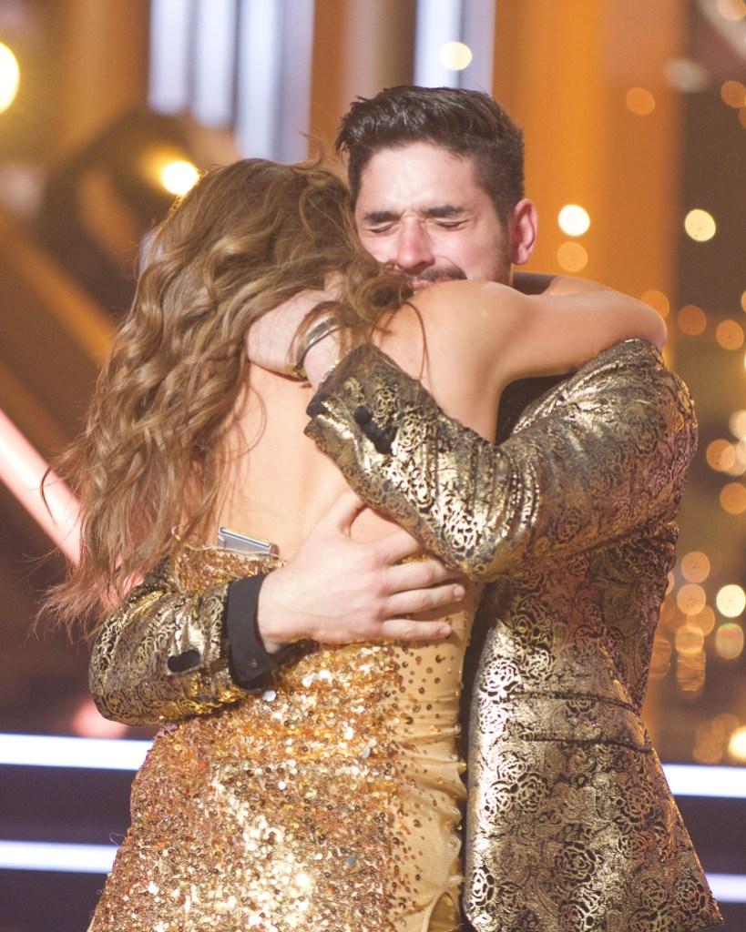 HANNAH BROWN, ALAN BERSTEN Hug and Cry After Winning DwTS