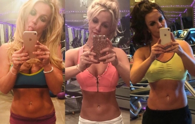 Britney Spears Flaunts Her Abs in a Workout Selfie (3)