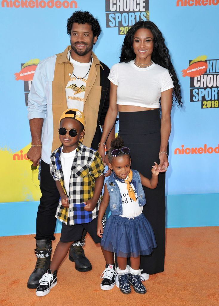 Ciara and Russell Wilson with Their Kids