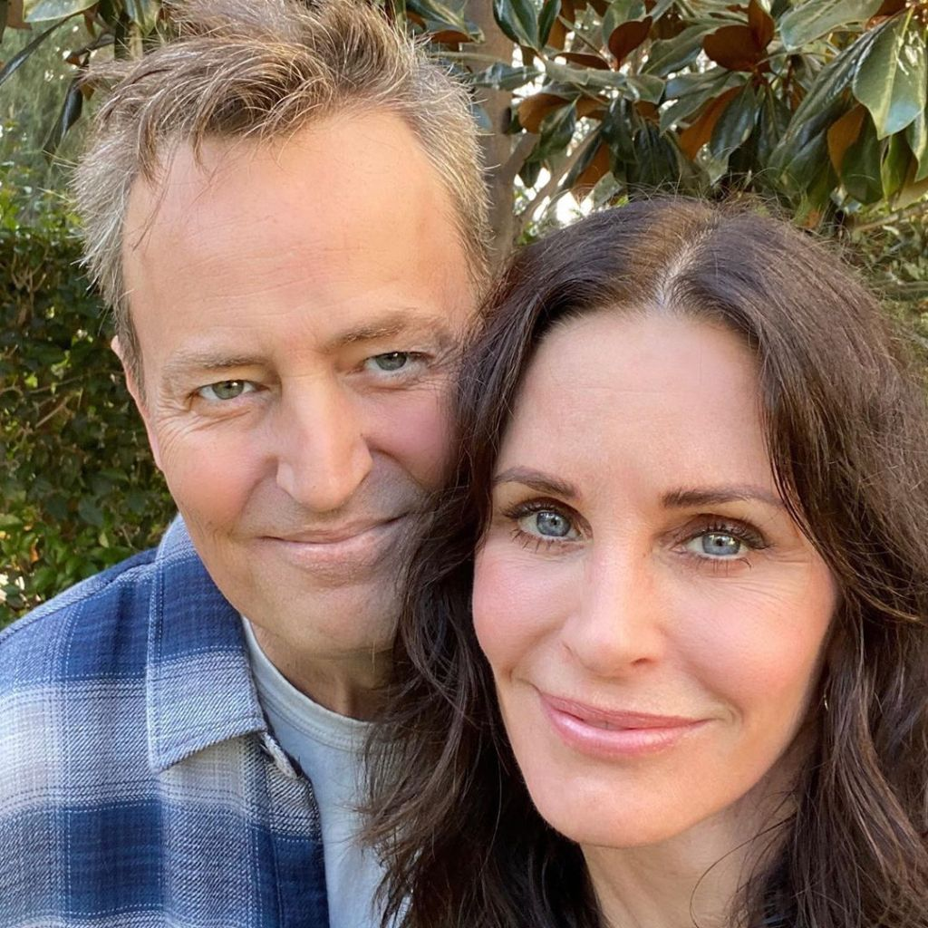 Courteney Cox With Matthew Perry