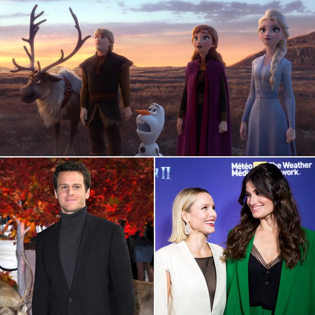 Jonathan Groff, Kristen Bell, Idina Menzel Frozen 2 Cast