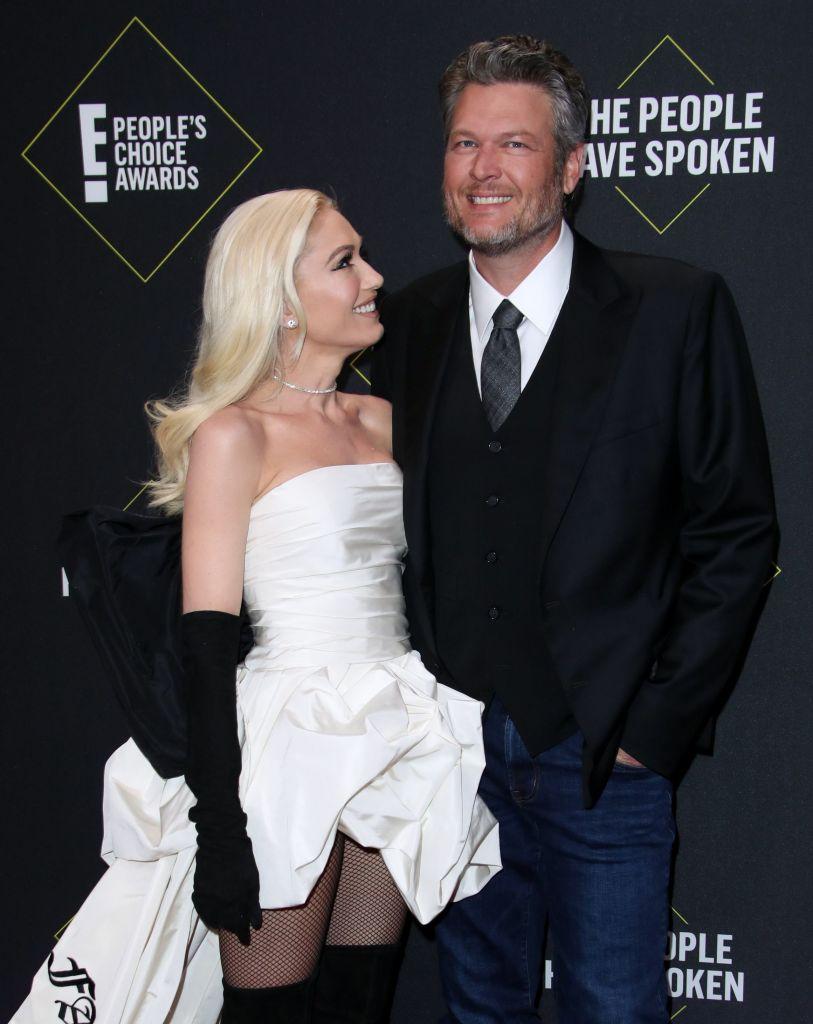 Gwen Stefani and Blake Shelton at the PCAs