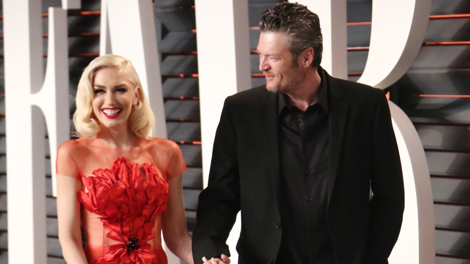 Gwen Stefani and Blake Shelton at the Vanity Fair Oscar Party in 2016